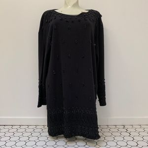 CAROLE LITTLE Dresses Tunic Top Beaded Embrodered